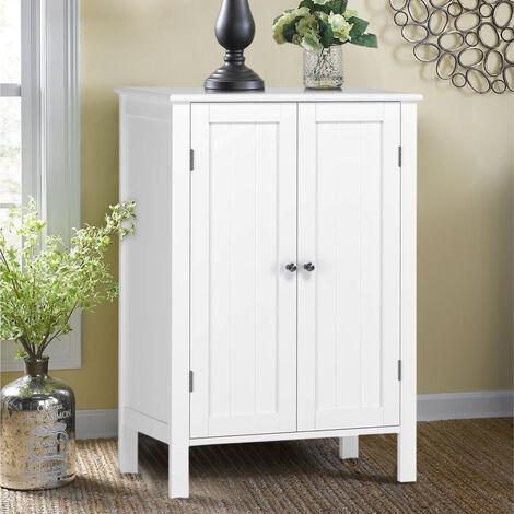 White Medium Cabinet Cupboard Sideboard Unit