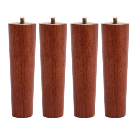Set of 4 Wooden Oak Furniture Round Legs Feet