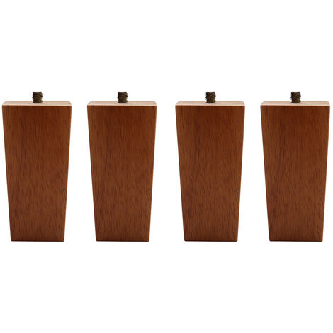 Set of 4 Wooden Oak Furniture Square Legs Feet