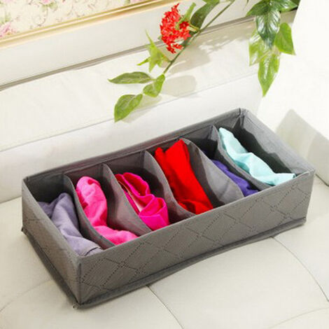 3pcs Foldable Storage Box Drawer Divider Organizer Tidy Ties Socks Bra Underwear