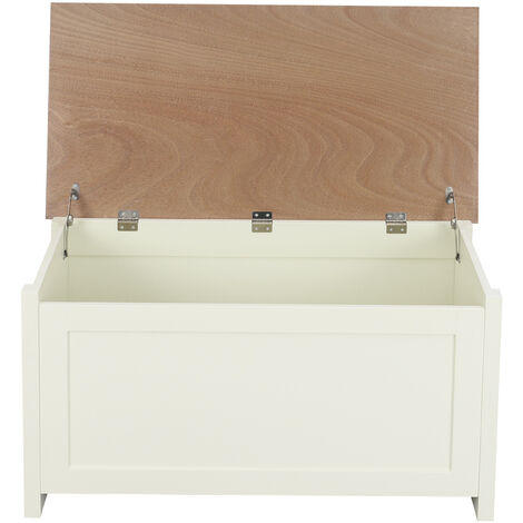 Large Wooden Ottoman Storage Box Bench Cabinet