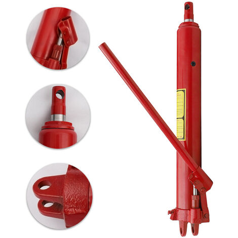 8 Ton Hydraulic Hand Pumps Ram with Arm Replacement For Engine Crane Lift Jack