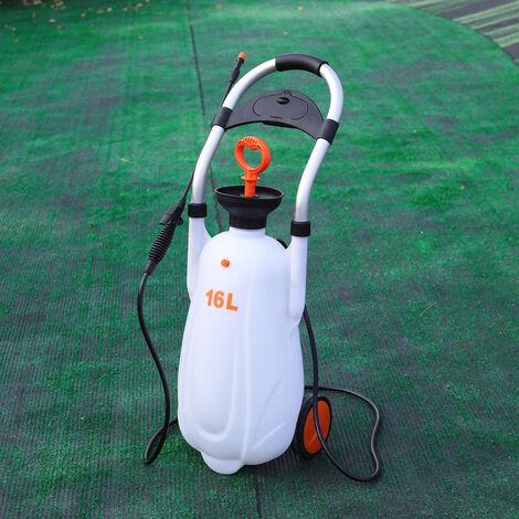 Portable Pressure Sprayer Garden Pump Chemical Weed Spray Yard 16L