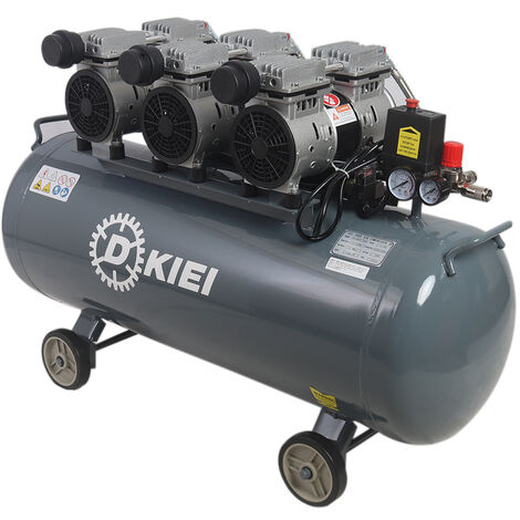 Oil Free Silent 100Litre Air Compressor High Pressure 4.5HP 11.2CFM Home Industrial