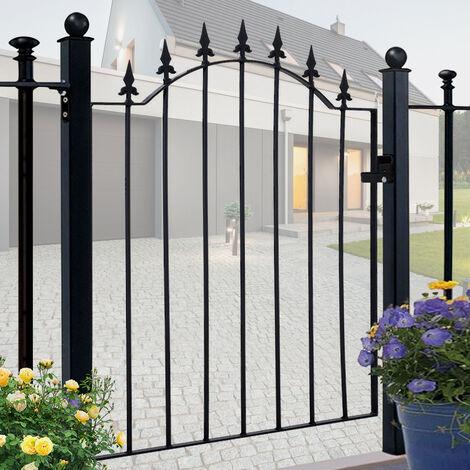 Garden Gates 3ft Wrought Iron Metal Swing Gate Outdoor Yard Entrance Way Door
