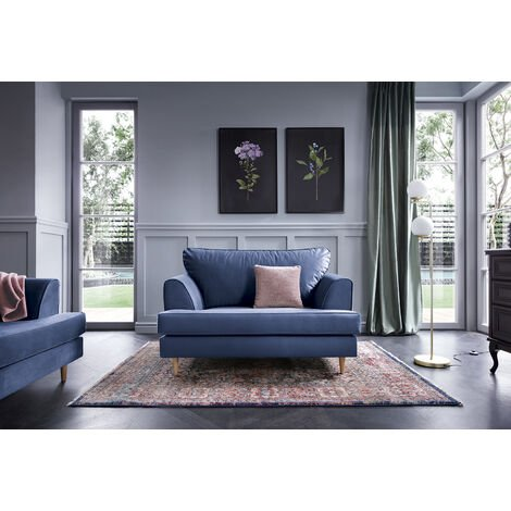 Harper Cuddle Chair - color Oxford Blue