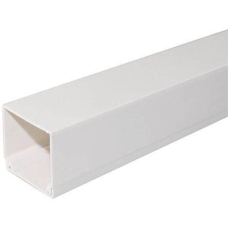 Canaleta eléctrica blanca a tornillo 2M 60x40mm