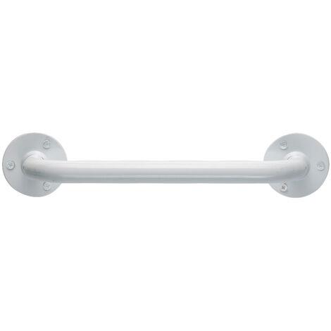 TATAY Asa de apoyo recta blanca, de 30 cm, acero inoxidable lacado