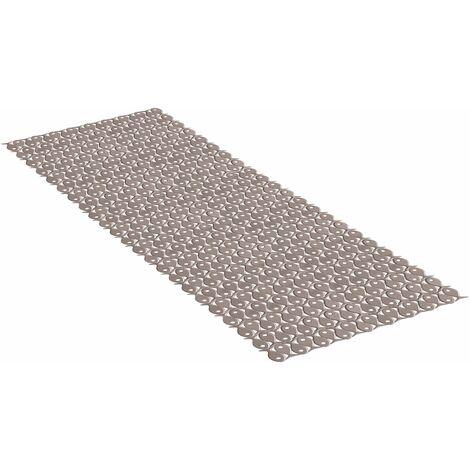 TATAY Alfombra de baño, antideslizante, flexible, opaca, color vison, de medidas 97 x 36 cm.