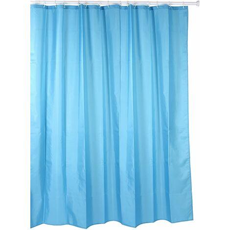 Cortina de baño TATAY de polyester hidrofugado, lavable, evita la humedad. Incluye anillas