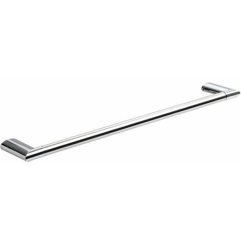 TATAY toallero barra mediano, de 44 cm, en acero inox y zamak cromado, de lineas planas. Medidas 6,5x1,6x44,5 cm. Sistema de fijacion con tornillos