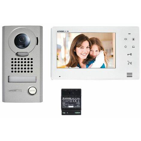 """Aiphone - Kit vidéo platine saillie avec moniteur écran 7"""" touche sensitive - JOS1V"""