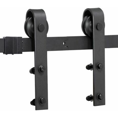 Yaheetech 8ft/244 cm Kit de Rail de Porte Coulissante Système de Porte suspendue pour garage cuisine chambre