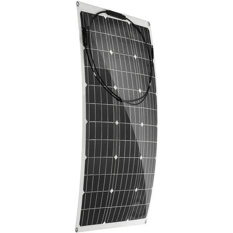 100W 18V Panneau solaire monocristallin flexible pour camping voiture bateau