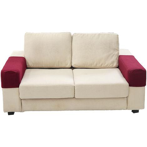 2 piezas muebles fundas de sofá reposabrazos protector de la cubierta elástica para sillón brazo D Hasaki