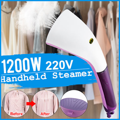 1200W 220V Electric Iron Brush Home Portable Handheld Steam Iron Cloth Laundry Steamer E Travel EU Plug Hasaki