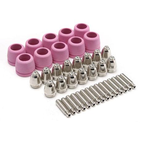 40PCS Plasma Cutter torch Consumables Electrode nozzle for SG55 AG60 Arc flame Hasaki