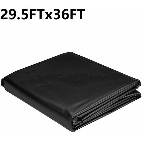 Durable Fish Pond Liners Reinforced 9x11M Black