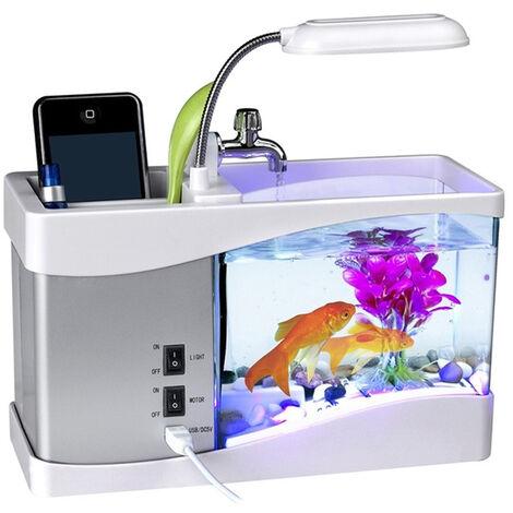 Small Fish Tank Aquarium Lamp Fish Aquarium Light white