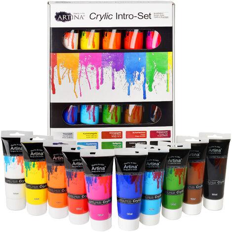 Set da 10 colori acrilici Crylic, qualità Artina 120 ml
