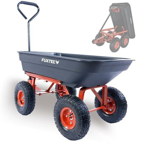 FUXTEC garden tipper cart FX-KW2175 in black