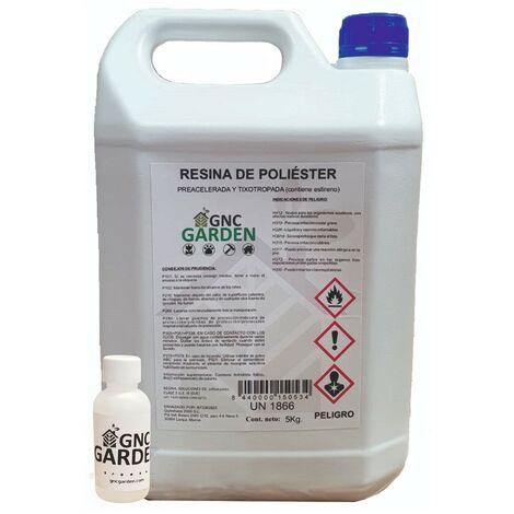 Confezione da 5 kg 100grs catalizzatore resina poliestere +