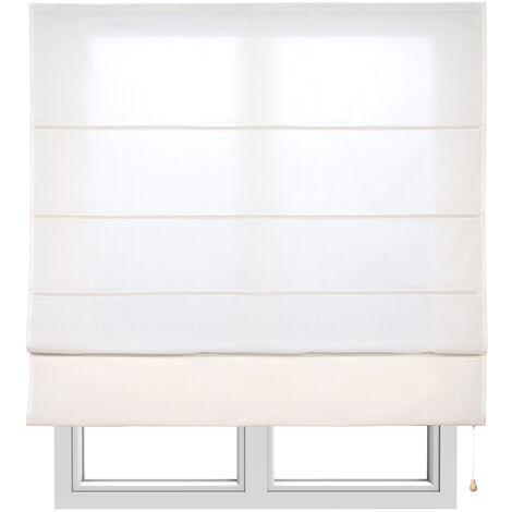 Store Bateau Tamisant pour fenêtres, Écru 105x175cm