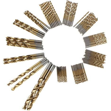 99Pcs Titanium Coated Hss Drill Bits Metal High Speed ??Steel Adjustment Tool