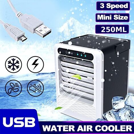 Portable Power Save Usb Mini Air Conditioning Fan Small Quick Humidifier Cooling Fan Air Cooler With Handle