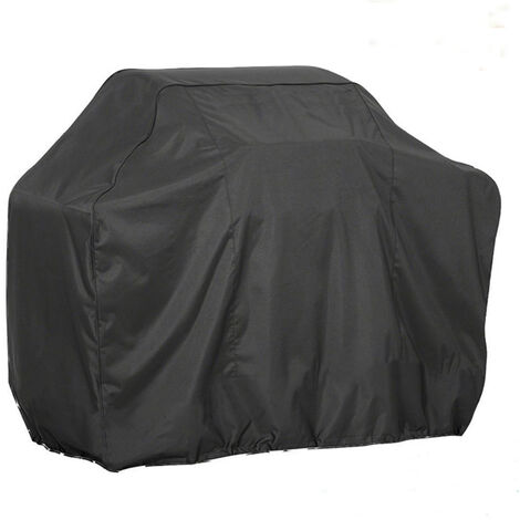 BBQ Cover Barbecue Grill Outdoor Garden Tableware Protector cover 145X61X117cm Black