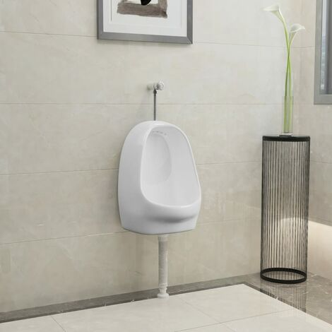 Wall Hung Urinal with Flush Valve Ceramic White