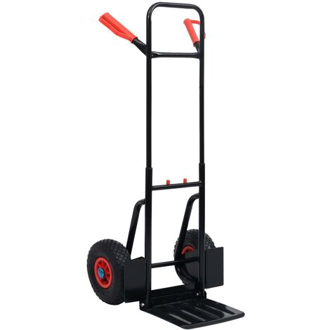Telescopic Hand Trolley 200 kg Black and Red