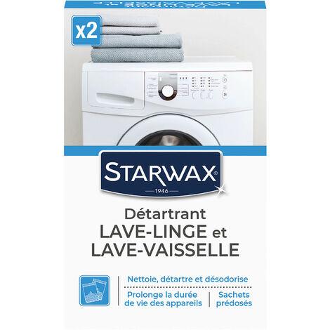 Nettoyant détartrant pour lave-linge et lave-vaisselle 2 sachets de 75g STARWAX
