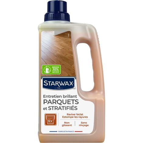 Entretien brillant pour parquets et sols stratifiés 1L STARWAX - Bois clair