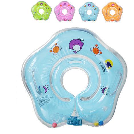 Bouée de Cou Gonflable pour Bébé Enfant Sécurité Protection - Bleu