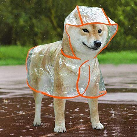 Poncho imperméable et coupe-vent pour chien et chiot Taille S/M