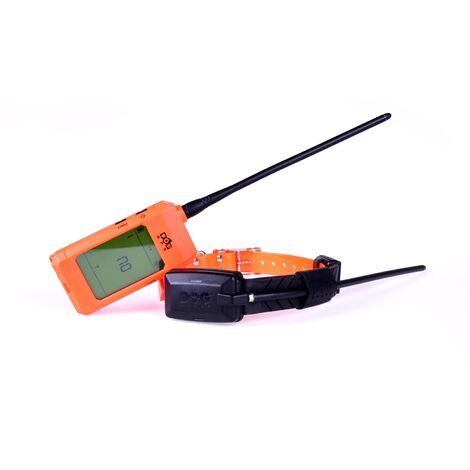 Localisateur GPS pour chiens Dogtrace Portée de 20 km avec fonction becada, boussole et clôture, couleur orange.
