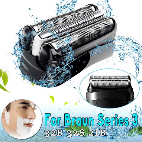Grille Tête de Rasoir électrique Pièce de Rasage Rechange Pour Braun 32B 32S 21B Rasoirs séries 3 en ABS + acier inoxydable