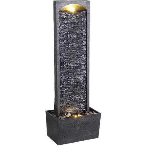 Peaktop Derecho Fuentes para jardín, Gris carbón RJ-19041-EU