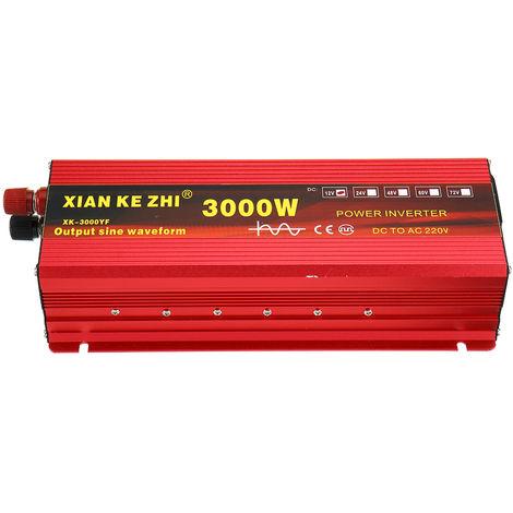 3000W 24V DC to 220V AC LED Solar Power Pure Sine Wave Inverter