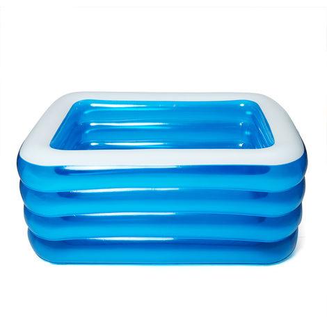 Inflatable Swimming Pool Child Family Rectangular Playground Paddling Pool 180x150x72cm