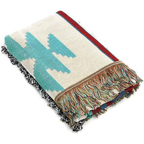 150X120CM Geometric Tribal Ethnic Aztec Navajo Blanket Throw Carpet Sofa Mat