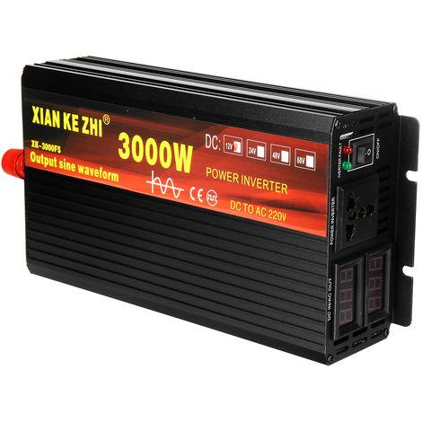 3000W Car Power Converter DC 12V to AC 220V Pure Sine Wave Converter