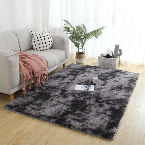 Large Soft Shaggy Carpet 50mm Thick For Living Room European Home Warm Plush Floor Rugs Fluffy Mats Kids Room Faux Fur Area Rug Mat darkgrey 160x230cm