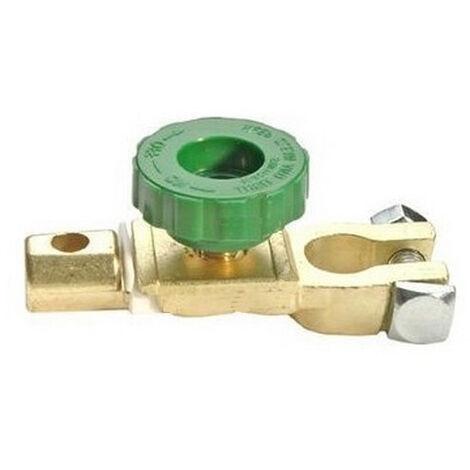 Lot de 2 cosses coupe circuit type robinet avec serres cables pour batterie auto