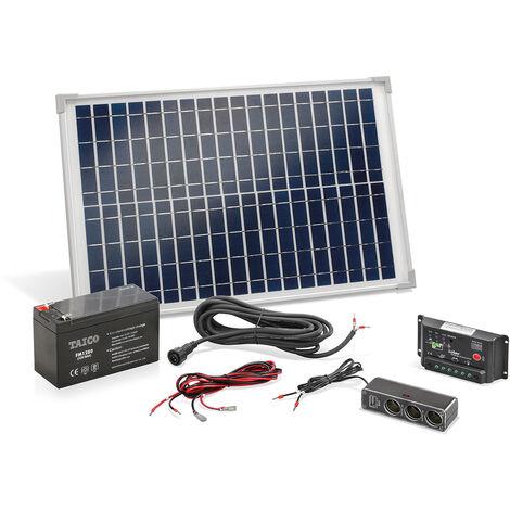 Ensemble solaire 20W avec kit batterie Système solaire système d'îlot camping, esotec 120005