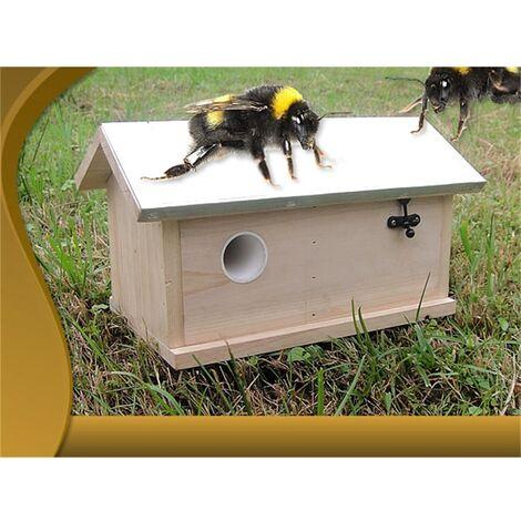 Melko Bumblebee Bumblebee house Bumblebee box Bumblebee nesting box Nesting box Insect house Insect hotel house Insect hotel XXL with metal roof Folding lid Bumblebee hotel