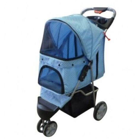 Dog Puppy Cat Pet Stroller Pushchair L80 * 45 * 97 cm BLUE3