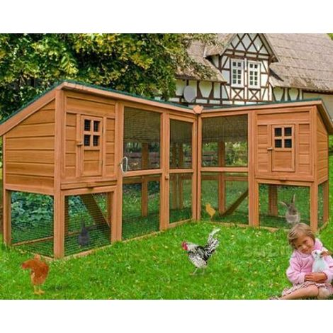 Chicken coop with run, rabbit coop, rabbit coop, small animal coop