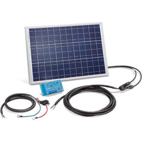 Conjunto solar de 20W con kit de sistema solar de 12 voltios independiente para camping, esotec 120020